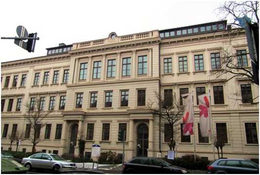 This is Wiesbaden Business School on the tight streets of the city center